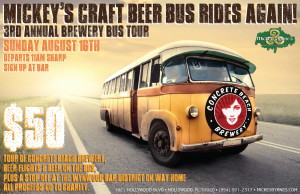 Mickey's 3rd Annual Craft Beer Bus Brewery Tour