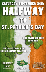 UV- The U2 Tribute Band- 1/2 Way to St Patrick's Day Party